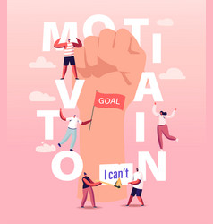 Motivation and aspiration concept characters vector