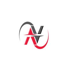N alphabet letter logo design on white background vector