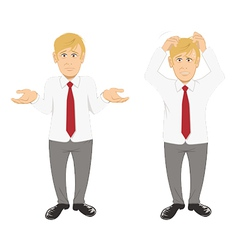 office guy stressed vector image