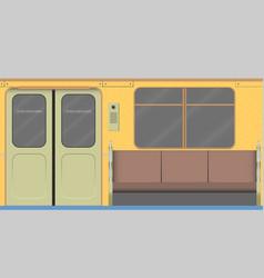 Old subway car interior vector