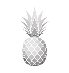 Pineapple silver icon vector