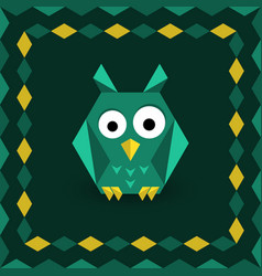 Polygonal origami owl vector