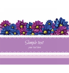 Purple lace greeting card vector