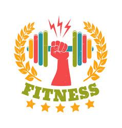 retro emblem for gym vector image