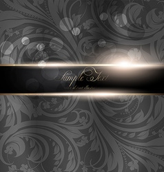 Seamless Dark Grey Floral Spring Wallpaper with vector