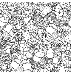 Seamless pattern Set of confectionery vector image