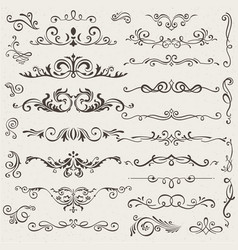 set calligraphic design elements and vector image