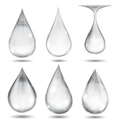 Set opaque drops vector