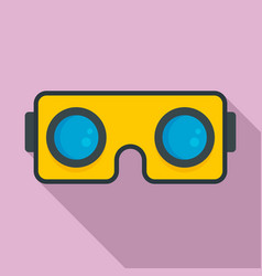 smartphone game goggles icon flat style vector image