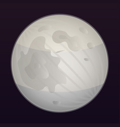 space moon icon isometric style vector image
