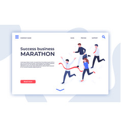 Success business marathon successful startup vector