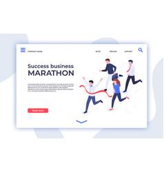 success business marathon successful startup vector image