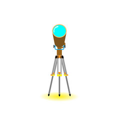 telescope flat with yellow shadow in white vector image
