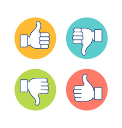 Thumb up and thumb dow vector