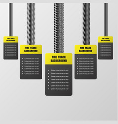 tire track stickers vector image