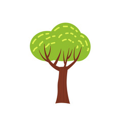 tree forest green color stylized cute style vector image