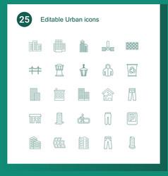 urban icons vector image