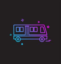 vehicle icon design vector image