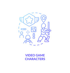 Video game characters concept icon vector