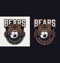 Vintage colorful football club badge vector