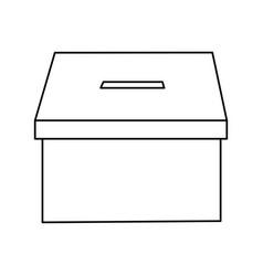 voting box vote icon image vector image