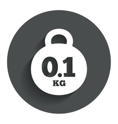 Weight sign icon 01 kilogram kg Mail weight vector image