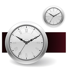 White Clock icons vector image