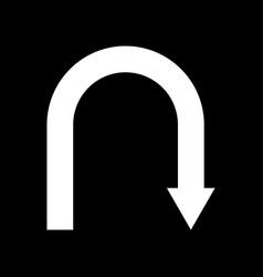 white return back arrow icon vector image