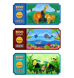 zoo ticket design vector image