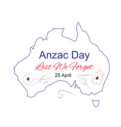 anzac day lest we forget vector image vector image