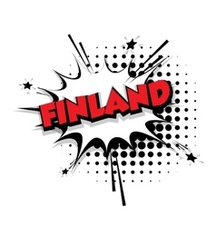 Comic text Finland sound effects pop art vector image vector image