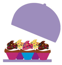 cupcakes colored 4 vector image