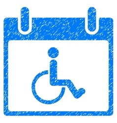 Disabled Person Calendar Day Grainy Texture Icon vector image vector image