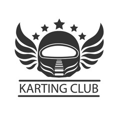 karting club or kart races racer helmet vector image vector image