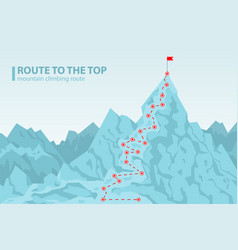 route to the top mounting climbing vector image