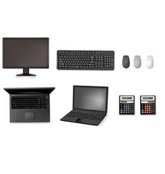 set of computers vector image