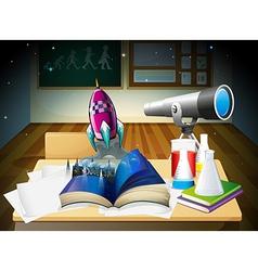 A science laboratory room vector image vector image