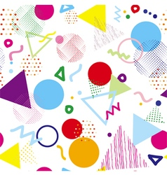 Abstract colorful geometric seamless pattern vector image vector image