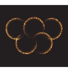 Glowing light burst circles on a plaid dark black vector image