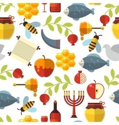 Jewish New Year Rosh Hashanah Pattern vector image vector image