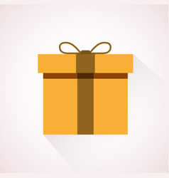 yellow flat present box concept vector image vector image