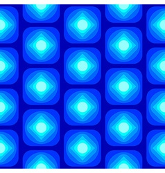 Abstract round square seamless pattern blue vector