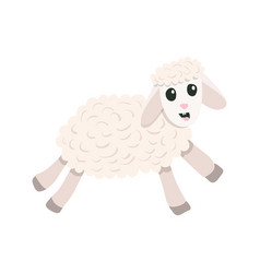 cartoon cute sheep vector image