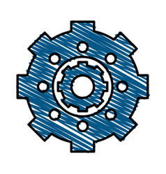 Gear wheels vector