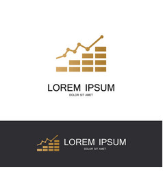 graphic business logo vector image