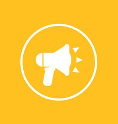 loudspeaker icon in circle megaphone bullhorn vector image
