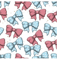 seamless background of vintage hand drawn ribbon vector image