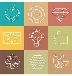 Abstract Hipster Icon vector image vector image