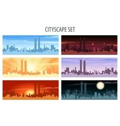 Cityscape Set vector image vector image