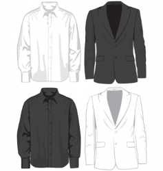 coats and shirts vector image vector image